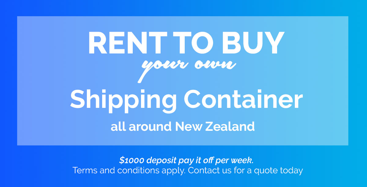 rent to buy your own shipping container